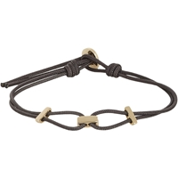 Zadeh Sterling Silver And Parachute Cord Bracelet Gold