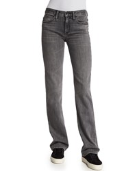 Helmut Lang Flare Leg Denim Jeans Light Gray Women's