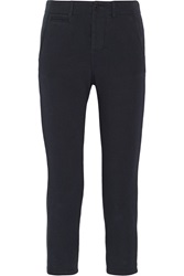 Nlst Cropped Cotton Jersey Slim Fit Pants Blue
