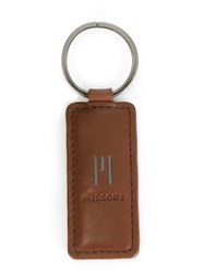 Missoni Vintage Logo Embossed Keyring Brown