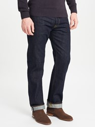 John Lewis And Co. Washed Japanese Selvedge Denim Jeans Blue