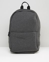 Asos Backpack In Charcoal Jersey Charcoal Grey