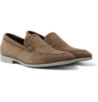 Canali Suede Loafers Light Brown