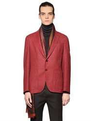 Etro Deconstructed Fit Wool Tweed Jacket