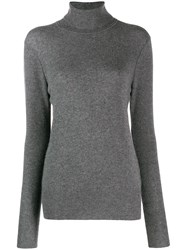 Equipment Roll Neck Sweater Grey