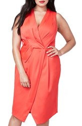 Rachel Roy Plus Size Women's Surplice Sheath Dress