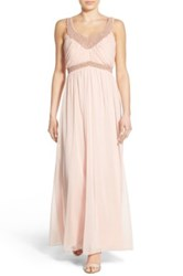As U Wish 'Jill' Embellished Sleeveless Gown Pink