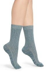 Treasure And Bond Marled Knit Crew Socks Teal Gazer