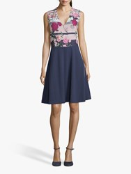 Betty And Co. Floral Shift Dress White Rose