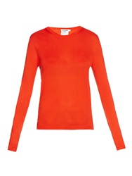 Jil Sander Cashmere And Silk Blend Fine Knit Sweater