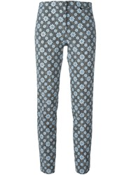 Versace Cropped Floral Pattern Trousers Multicolour