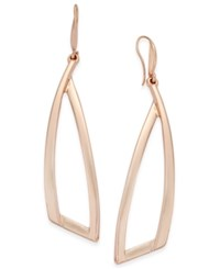 Inc International Concepts Triangle Drop Earrings Only At Macy's Rose Gold