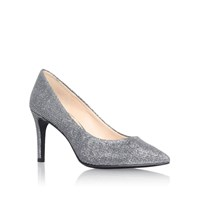 Nine West Charly2 High Heel Court Shoes Silver