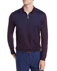 Stefano Ricci Degrade Diamond Cashmere Sweater Blue