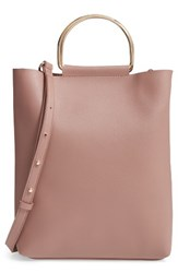 Topshop Faux Leather Tote Pink Blush