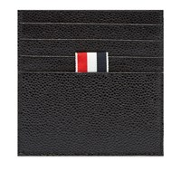 Thom Browne Printed Label Card Holder Black