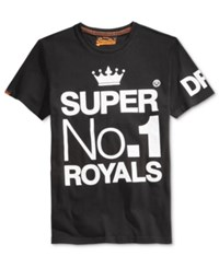 Superdry Men's Wings And Kings Graphic Print T Shirt Black