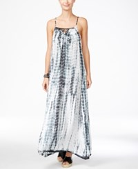 Raviya Tie Dyed Lattice Back Maxi Dress Cover Up Women's Swimsuit Grey