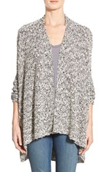 Women's Bobeau High Low Swing Cardigan Grey