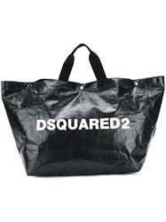 Dsquared2 Logo Printed Tote Bag Large Black