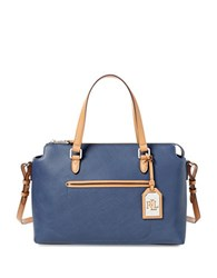 Lauren Ralph Lauren Lindley Addie Satchel Marine Blue