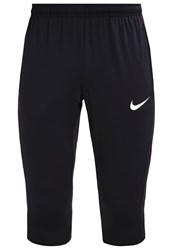 Nike Performance 3 4 Sports Trousers Black Black Track Red Metallic Silver