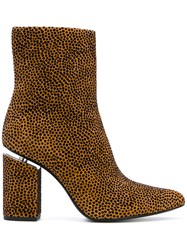 Alexander Wang Kirby Boots Women Leather Suede 37 Brown