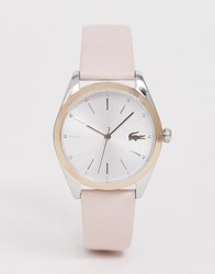 Lacoste Parisienne Leather Watch Exclusive To Asos Pink