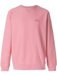 Stussy Loose Fit Sweater Pink And Purple