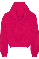 Tomas Maier Ribbed Cashmere Sweater Fuchsia