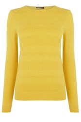 Warehouse Stitch Texture Loose Crew Mustard Yellow