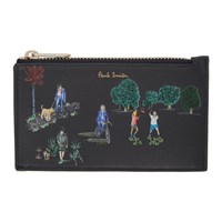 Paul Smith Navy London Parks Zip Card Holder