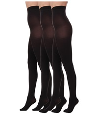 Hue Super Opaque 3 Pair Pack Tights Black Hose