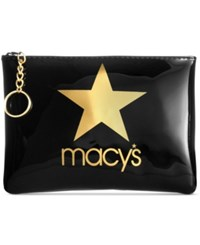 Macy's Star Pouch Gold Black