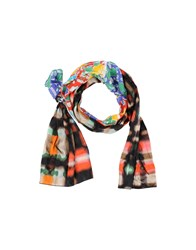 Grey Daniele Alessandrini Accessories Oblong Scarves Women Red