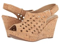 Vaneli Elsie Natural Cork Women's Wedge Shoes Neutral