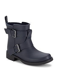Gentle Souls Buckled Rain Boots Navy