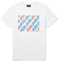 A.P.C. Slim Fit Printed Cotton Jersey T Shirt White