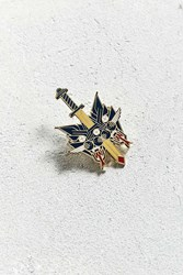 Urban Outfitters Lost Lust Supply X Brian Steely Cat Dagger Pin Navy