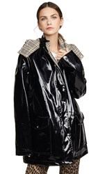 Paco Rabanne Vinyl Coat Black Multi