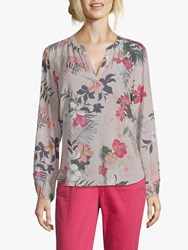 Betty Barclay Floral Print Blouse Grey