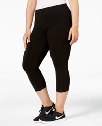 Ideology Plus Size Cropped Legging Black