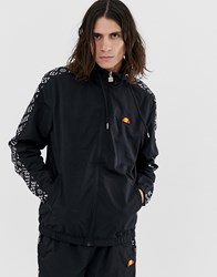 Ellesse Melfi Co Ord Track Jacket With Repeat Logo Side Stripe In Black