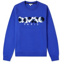 Kenzo Boucle Logo Crew Sweat Blue