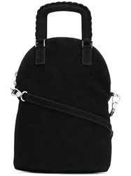 Barbara Bui Lace Up Straps Tote Black