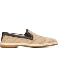 Dolce And Gabbana Slip On Espadrilles Nude And Neutrals
