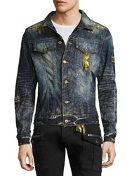 Robin's Jeans Embroidered Denim Jacket 4 D Dark