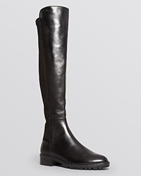 Stuart Weitzman Lugmainline Stretch Flat Tall Boots Bloomingdale's Exclusive Black Nappa
