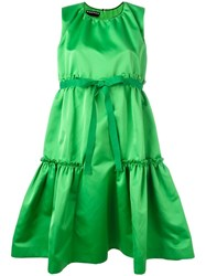 Rochas Peplum Dress Green