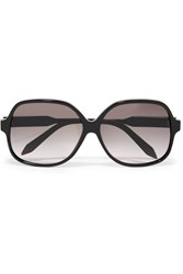 Victoria Beckham Classic Square Frame Acetate And Gold Tone Sunglasses Black